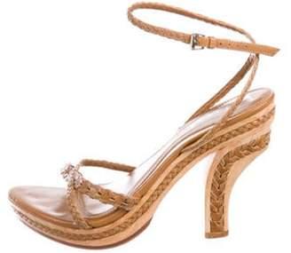 Christian Dior Leather High-Heel Sandals Tan Leather High-Heel Sandals