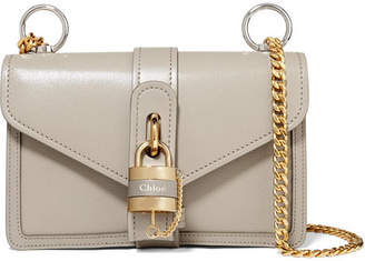 Chloé Aby Chain Leather Shoulder Bag - Gray