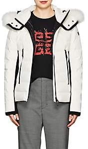 Moncler Women's Lamoura Tech-Crepe Puffer Coat - White