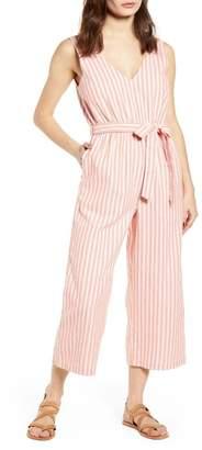 MinkPink Stripe Crop Jumpsuit