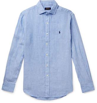 Polo Ralph Lauren Slub Linen Shirt - Blue