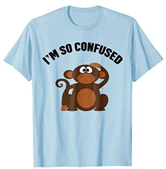 Funny Confused Monkey T-shirt