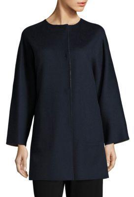 Max MaraWeekend Max Mara Uncino Reversible Virgin Wool Coat