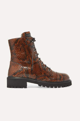 Giuseppe Zanotti Snake-effect Leather Ankle Boots - Snake print