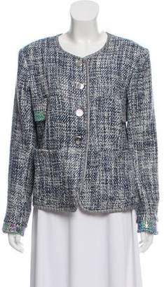 Theyskens' Theory Tweed Button-Up Jacket