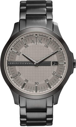 Armani Exchange Men Gunmetal-Tone Stainless Steel Bracelet Watch 46mm AX2194
