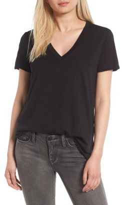 Women's Lush Raw Edge Side Slit Tee $24 thestylecure.com