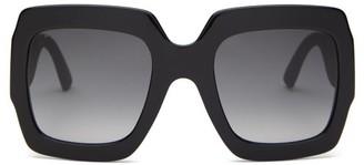 b9ded9b4f81 Gucci Gg Square Frame Glitter Acetate Sunglasses - Womens - Black