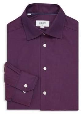 Eton Slim-Fit Textured Dress Shirt