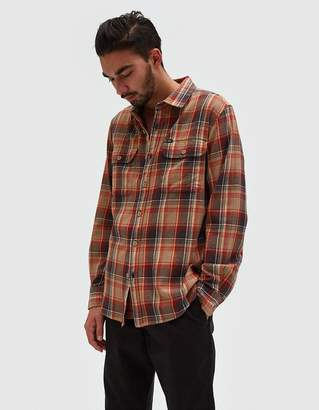 Obey Marvyn Woven Shirt in Sand Multi