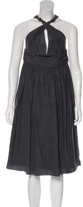 Camilla And Marc Silk Ruche-Accented Midi Dress