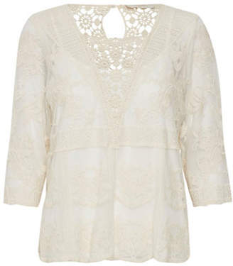 Cream Astid Lace Blouse