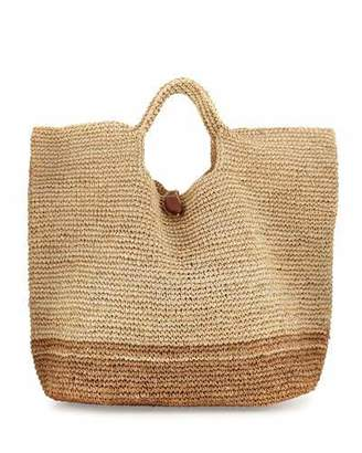 Vitamin A Tash Two-Tone Beach Tote Bag, Neutral $195 thestylecure.com