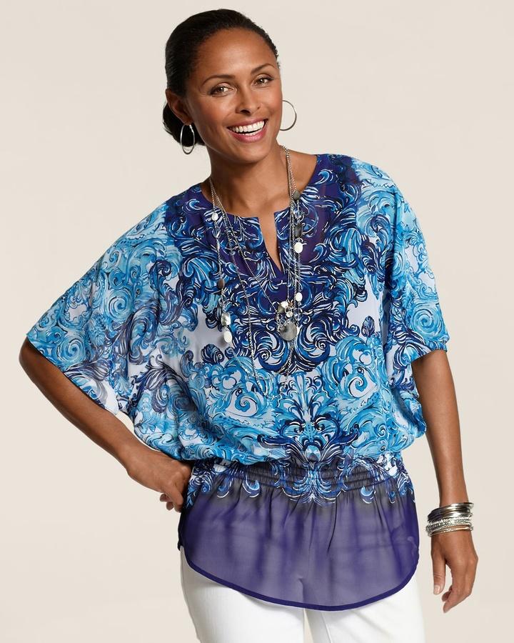 Nessa Blue Elegance Top