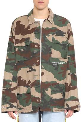 Off-White Off White Camouflage Cotton Field Jacket