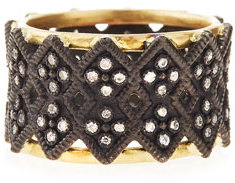 ArmentaArmenta Double Crivelli Wide Band Ring
