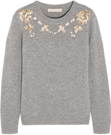 Vanessa BrunoVanessa Bruno - Gosta Sequin-embellished Wool And Cashmere-blend Sweater - Gray