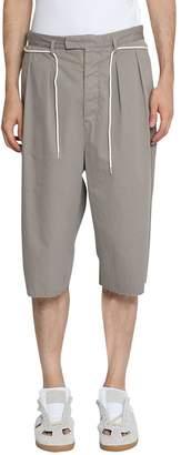 Maison Margiela Belted Cotton Shorts
