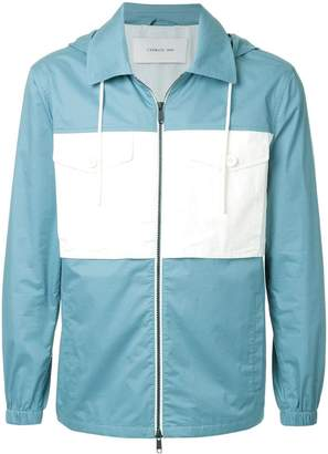 Cerruti hooded contrast pocket jacket