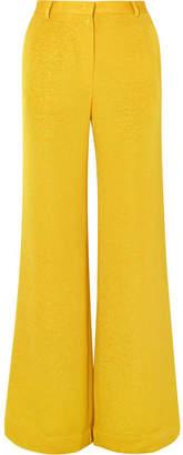 Stine Goya Luca Metallic Woven Wide-leg Pants - Chartreuse