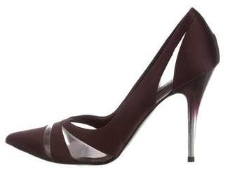 Stella McCartney Satin PVC-Trimmed Pumps