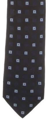 Kiton Silk Geometric Print Tie