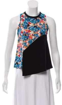 Tanya Taylor Sleeveless Floral Top