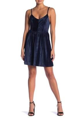 GOOD LUCK GEM V-Neck Velvet Dress