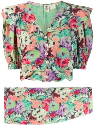 Ungaro Pre-Owned 1980's floral top & skirt set