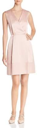 Paule Ka Crossover Satin A-Line Dress