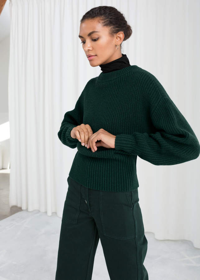 Long Rib Cropped Sweater