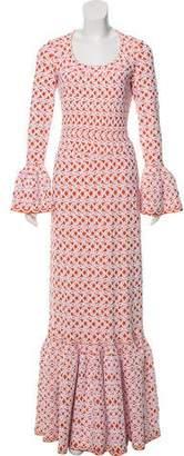 Alaia Fit and Flare Jacquard Dress