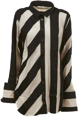 Marques Almeida Striped Raw-edged Shirt