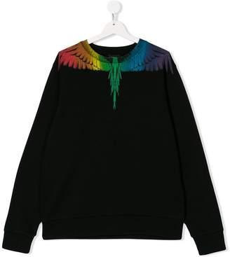 Marcelo Burlon County of Milan Kids TEEN wing print sweatshirt