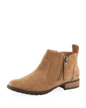UGG Aureo Suede Ankle Booties, Chestnut