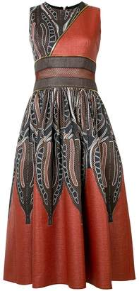Sophie Theallet panelled zipped midi dress