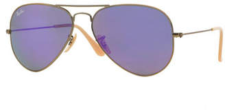 Ray-Ban Mirrored Aviator Sunglasses, Purple