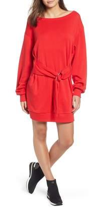 BP Belted Sweatshirt Dress