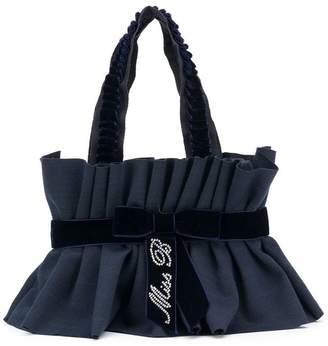 Miss Blumarine ruched trim shoulder bag
