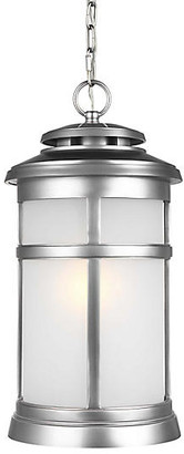Feiss Newport Outdoor Hanging Lantern - Brushed Steel