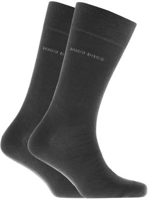 HUGO BOSS Two Pack Socks Grey