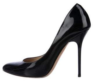 Jimmy Choo Patent Round-Toe Pumps