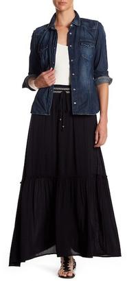Bobeau Woven Maxi Skirt $68 thestylecure.com