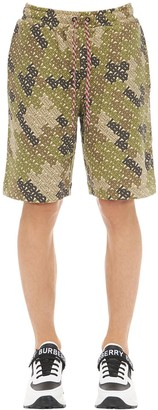 Burberry Camile Camouflage Cotton Shorts