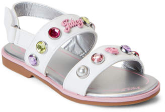 4d8ab2096e1b Juicy Couture Toddler Girls) White Melrose Embellished Flat Sandals