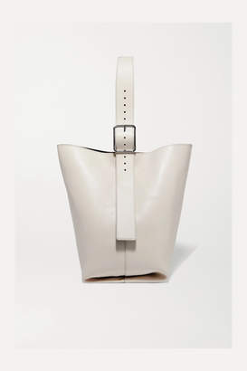 Theory Hobo Leather Shoulder Bag - Cream