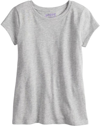 Girls 4-12 Jumping Beans Slubbed Solid Tee