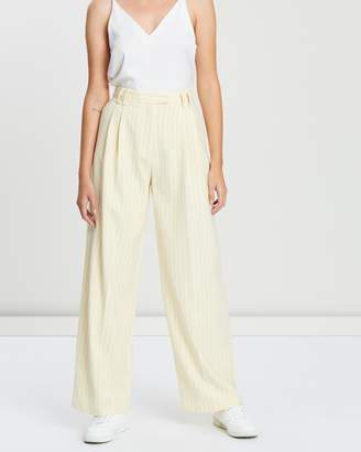 Topshop Wide Pinstripe Trousers