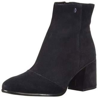 Armani Exchange A|X Women's Suede Boot with Block Heel Fashion