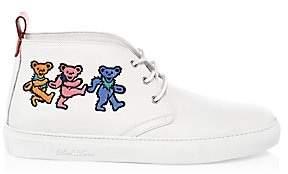 Del Toro Men's Grateful Dead Marching Bears Leather Chukka Sneakers